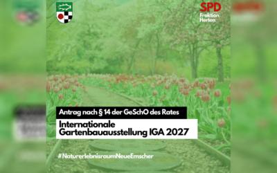 Antrag – Anfrage zur IGA 2027