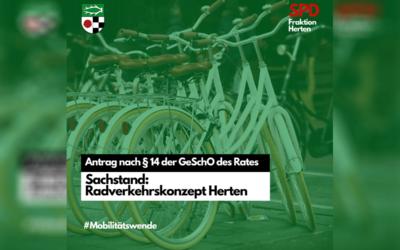 Antrag – Sachstand Umsetzung Radverkehrskonzept